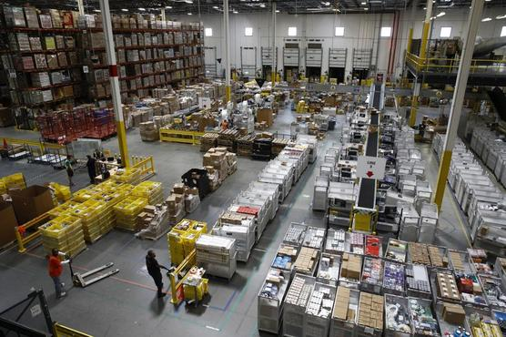 El centro de distribución de Amazon en Baltimore.