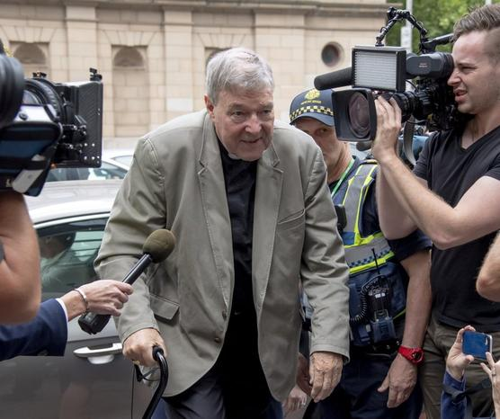 George Pell, acusado de abuso sexual de menores.